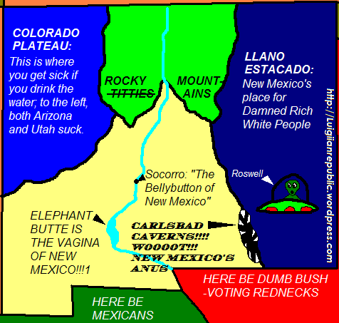 Map of NewMexico