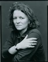 Rachel Whiteread, exhibiting the crazy stare of an psychopath.